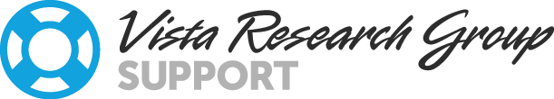 Vista Research Group Support Center